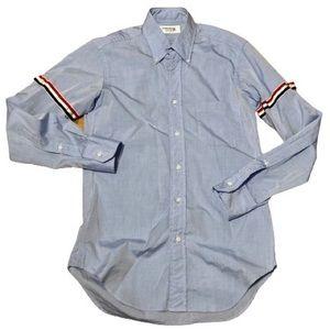 THOM BROWNE men light blue shirt SZ XS
